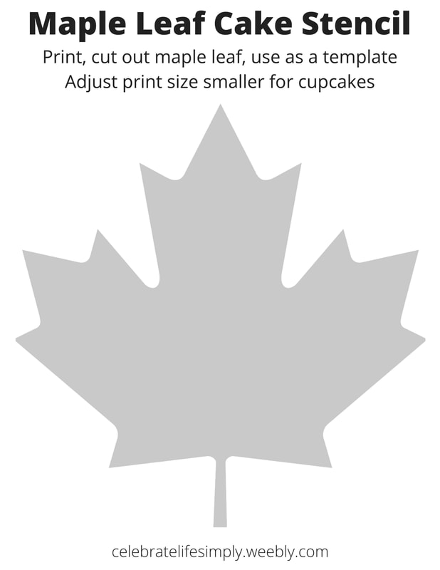 photo regarding Cake Stencils Free Printable known as Canada Working day - rejoice lifestyle only