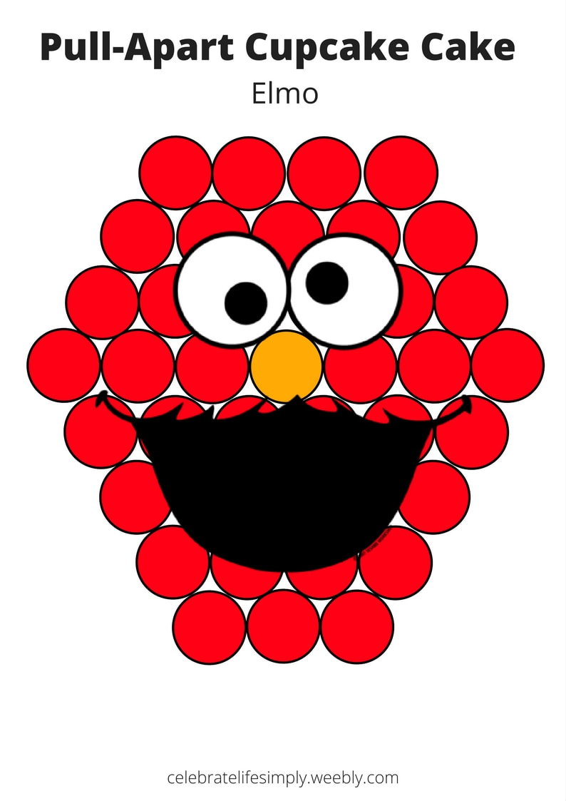 elmo template for cake - parties celebrate life simply